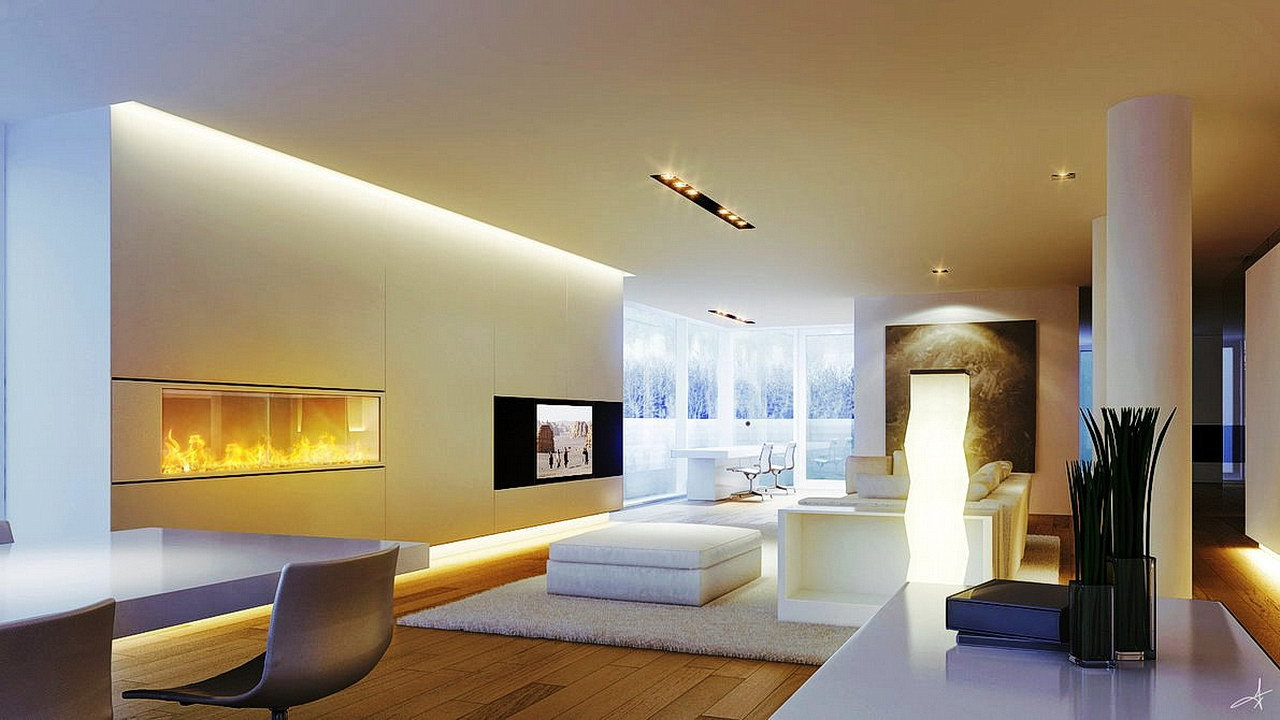 Living Room Wall Lighting Contemporary Designs