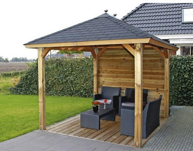 Awesome Log Cabin Lugarde Sophia Wooden Gazebo - 2.4 X 3.0m wooden patio gazebo