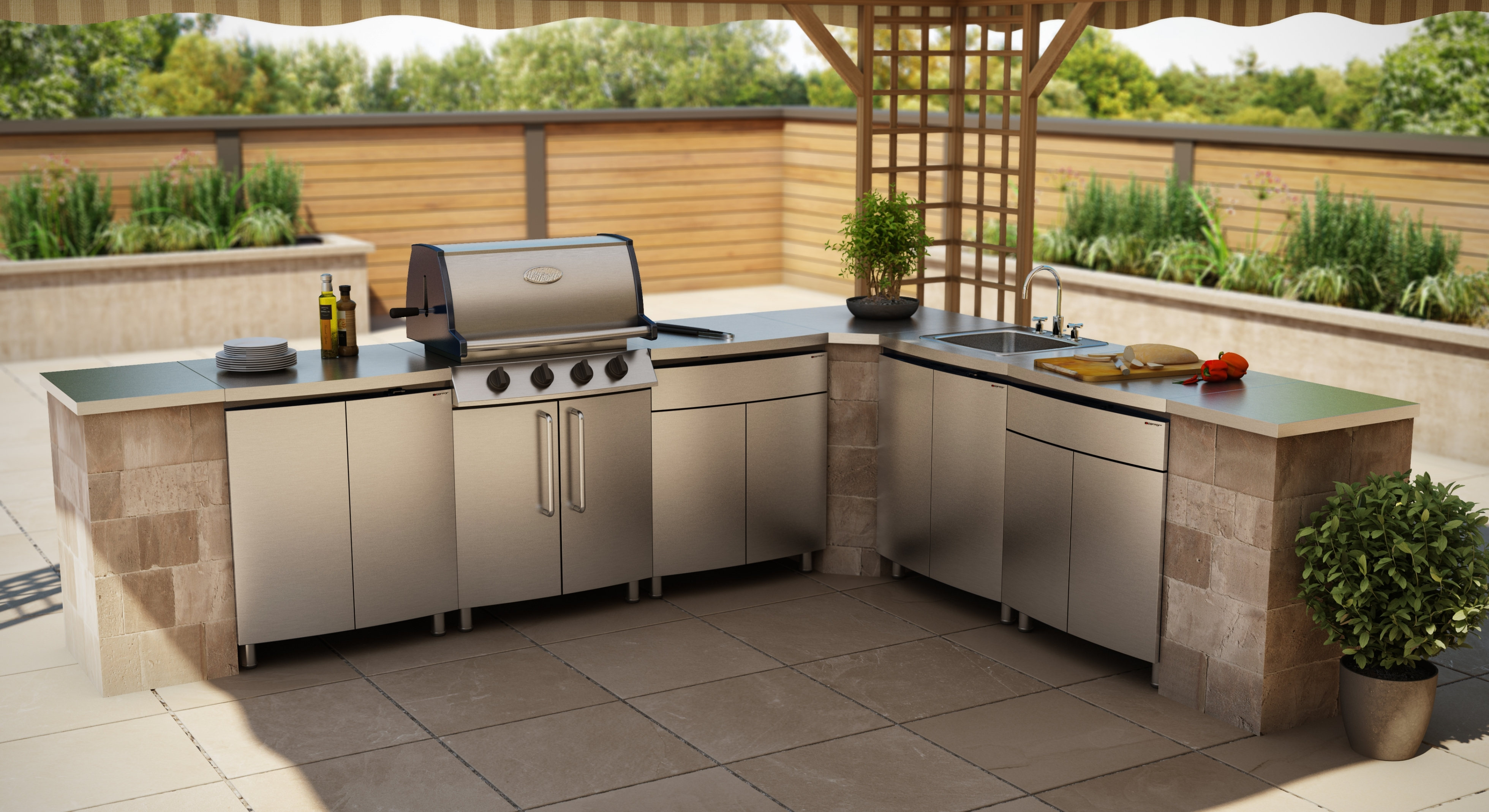 Awesome Luxury Outdoor Kitchen Stainless Steel Cabinet Doors - Kitchen Cabinets stainless steel outdoor kitchen cabinets