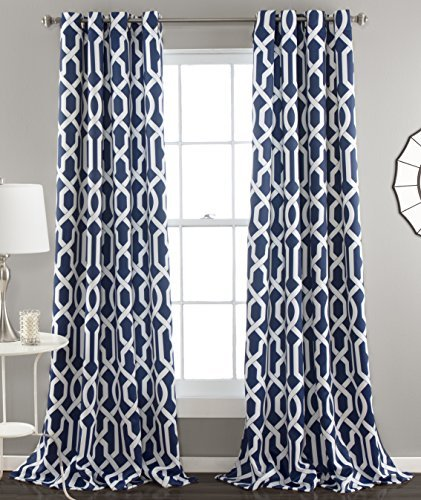 Awesome Navy Blue and White Curtains: Amazon.com navy blue and white curtains