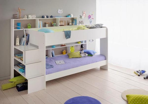 Awesome Parisot Bebop Bunk Bed in White - Childrens Funky Furniture - 1 childrens funky furniture