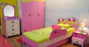 Awesome Playful girlu0027s bedroom with pink and green color scheme and fun furniture kids room ideas for girls