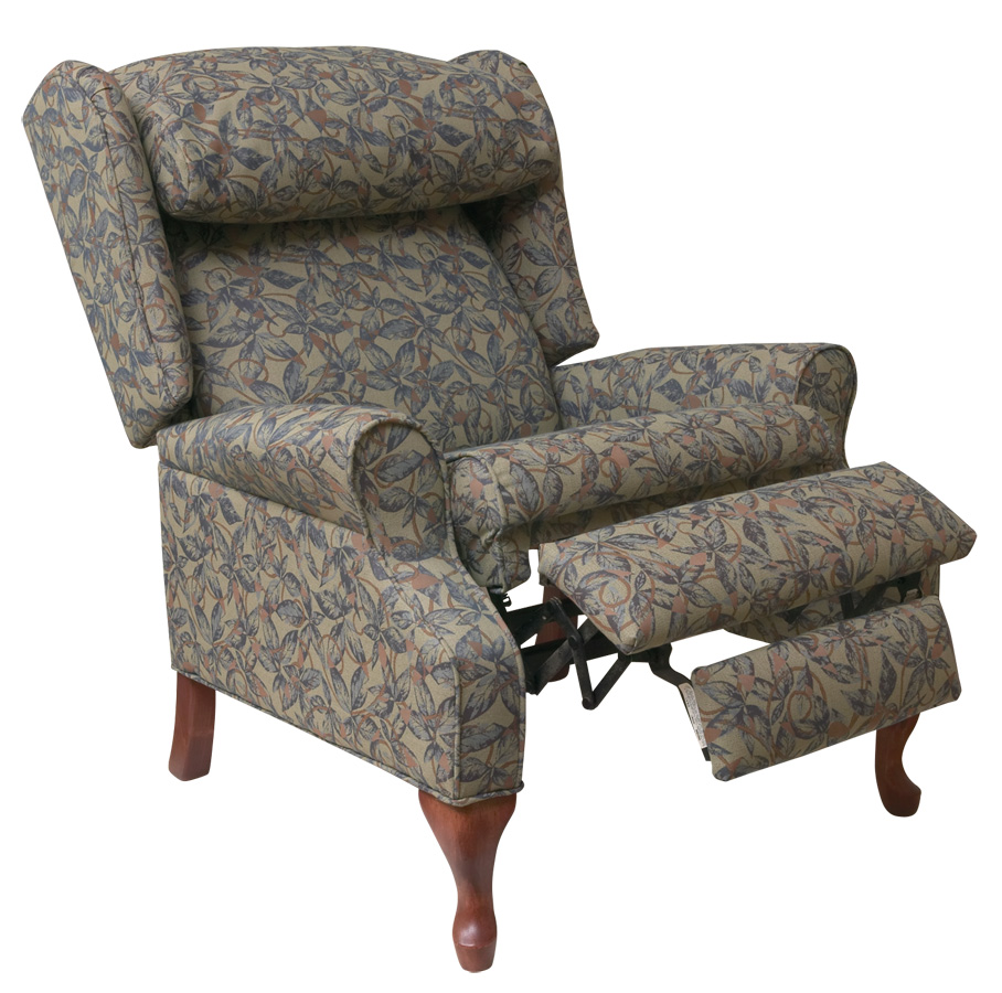 Awesome Reclining Wingback Chair Slipcovers wing back chair recliner