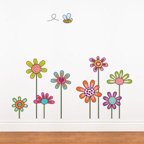 Awesome Rural Flowers Wall Decal Rural Flowers Wall Decal flower wall stickers
