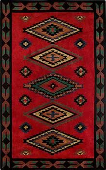 Awesome Stunning red Southwestern Rug. Hand tufted from plush New Zealand wool.  Beautiful southwestern style rugs