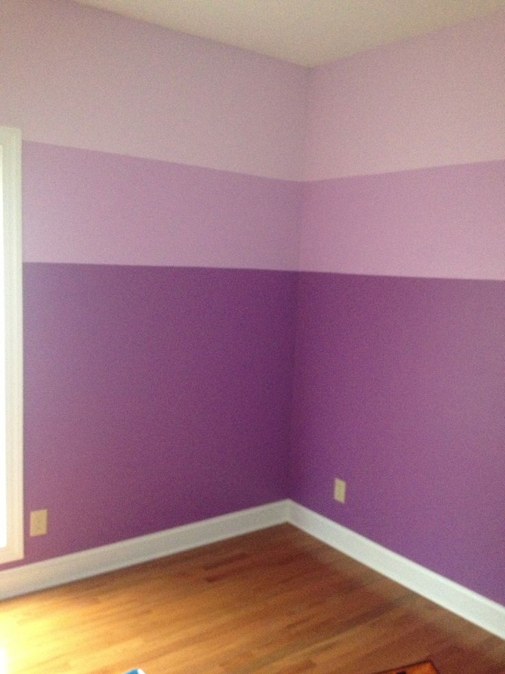 Awesome The Girlsu0027 Ombré Purple Bedroom I Painted! I Used The Lightest  And Darkest Purple