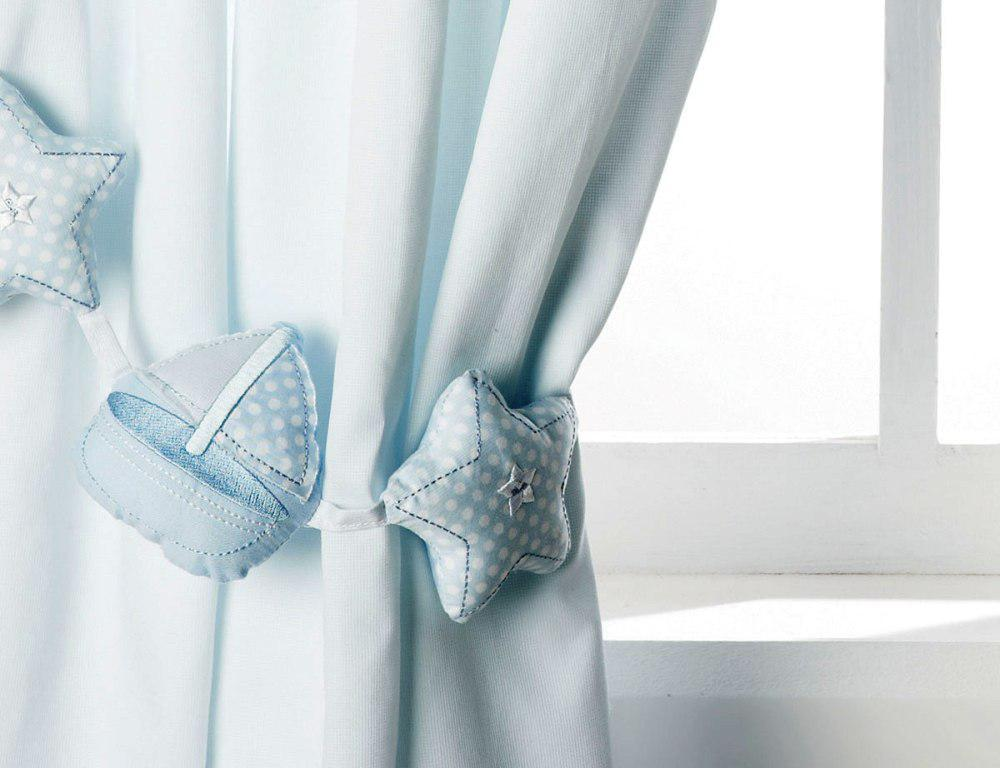 Cozy Image of: Light Blue Nursery Curtains baby blue nursery curtains