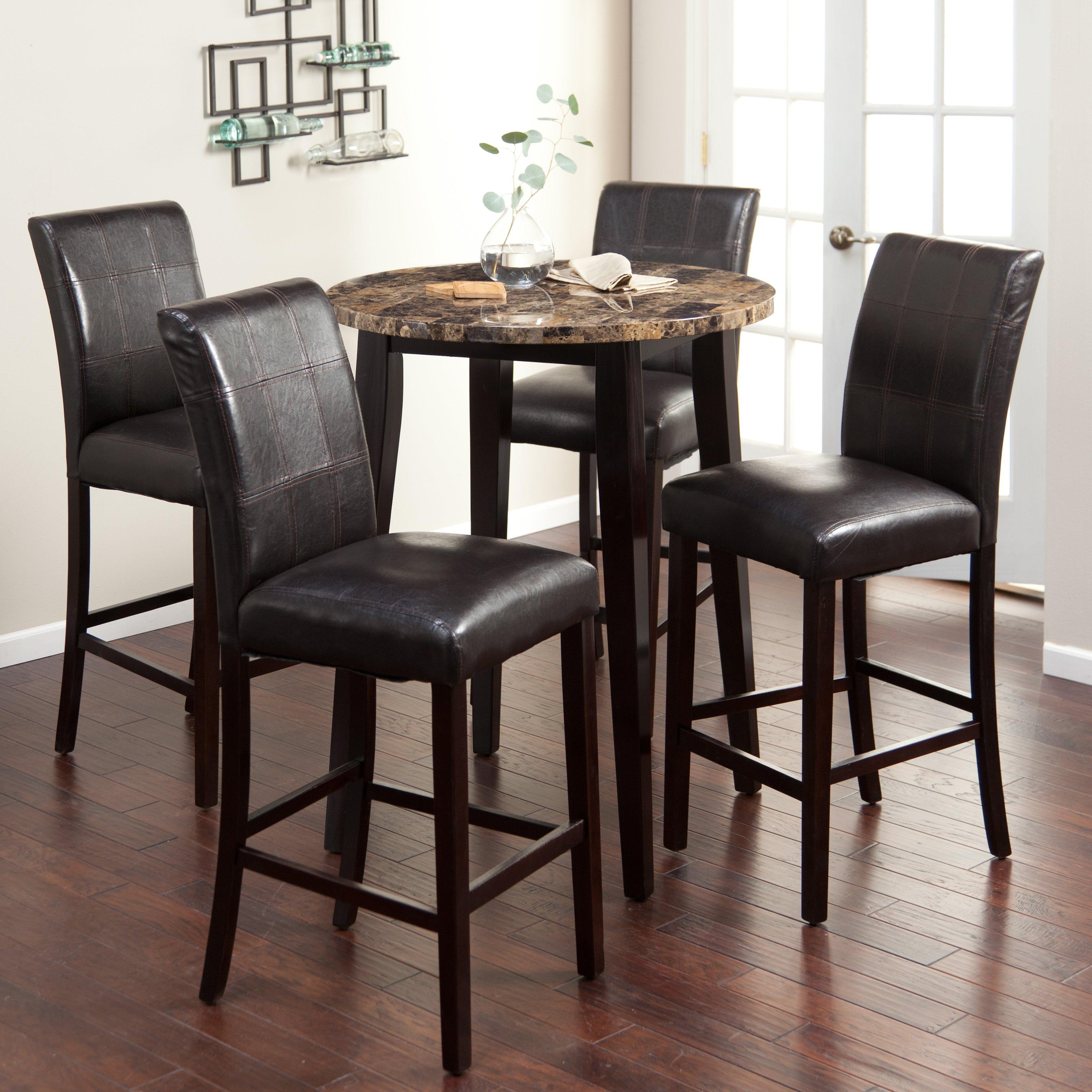 Cozy Palazzo 5 Piece Round Bar-Height Pub Set - Bar u0026 Pub Tables bar height pub table sets