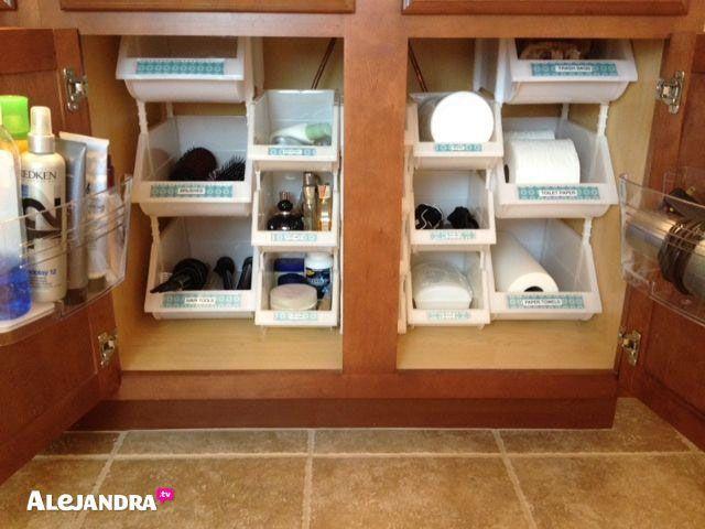 Cool 40+ Brilliant DIY Storage and Organization Hacks for Small Bathrooms bathroom cabinet organizers