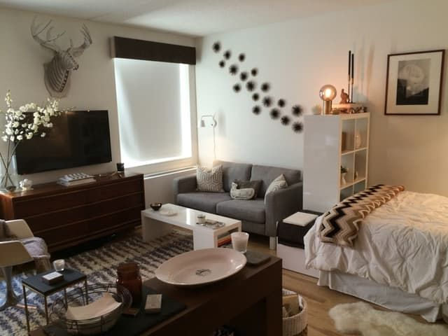 Beautiful 5 Studio Apartment Layouts that Work studio apartment furniture
