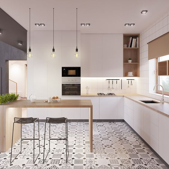 Beautiful A beautiful modern kitchen design often comes from the influence of a modern kitchen inspiration