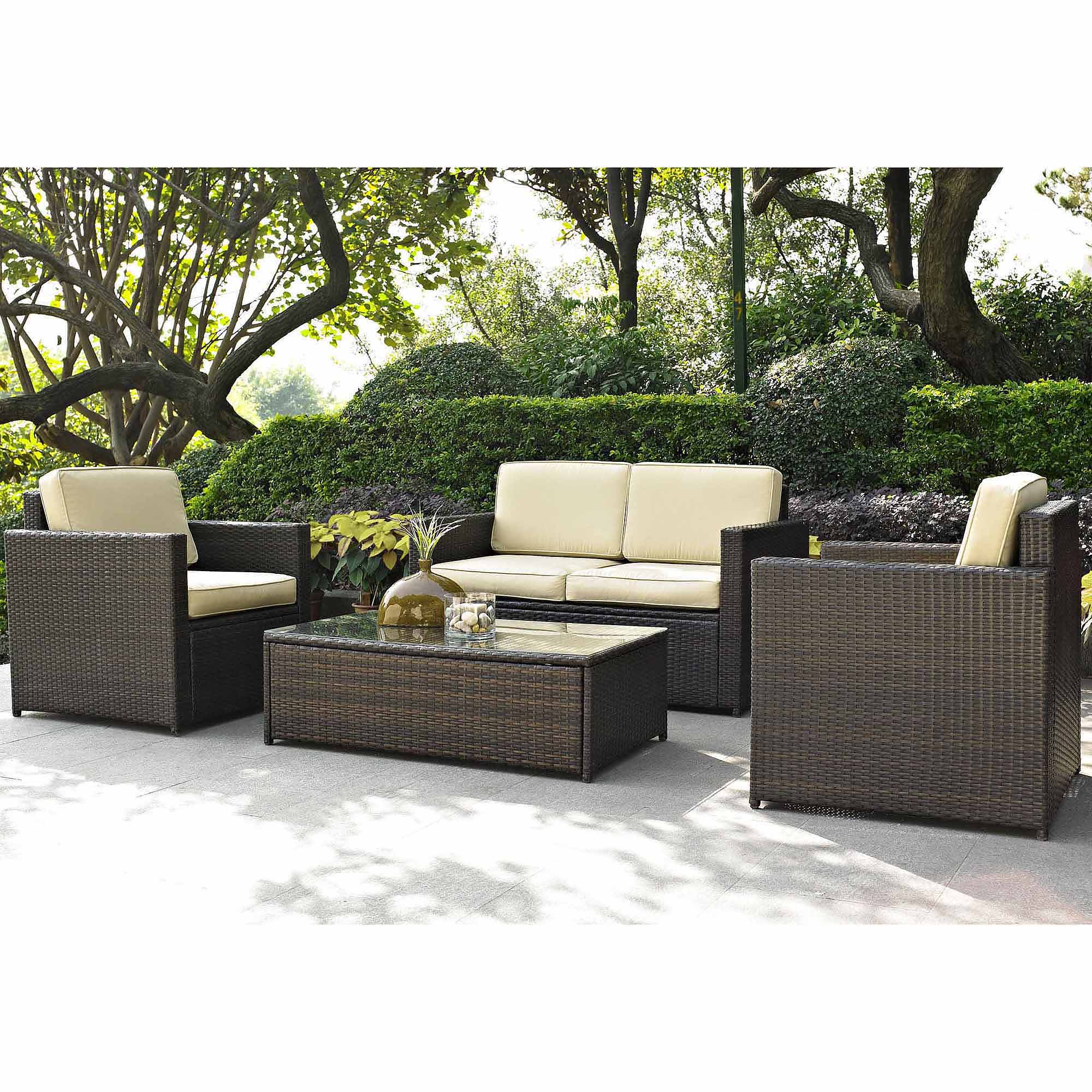 Beautiful Best Choice Products Outdoor Garden Patio 4pc Cushioned Seat Black Wicker  Sofa outdoor wicker furniture