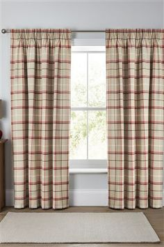 Beautiful Buy Red Woven Check Pencil Pleat Curtains from the Next UK online tartan pencil pleat curtains