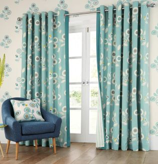 Beautiful Buy Retro Floral Print Eyelet Curtains online today at Next: Belgium next retro floral curtains