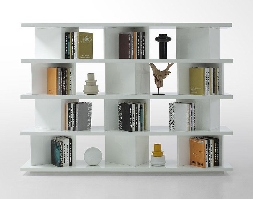 Beautiful contemporary bookcase | ... Living Room u003eu003e Modern Shelves u0026 Dividers u003eu003e modern white bookshelf