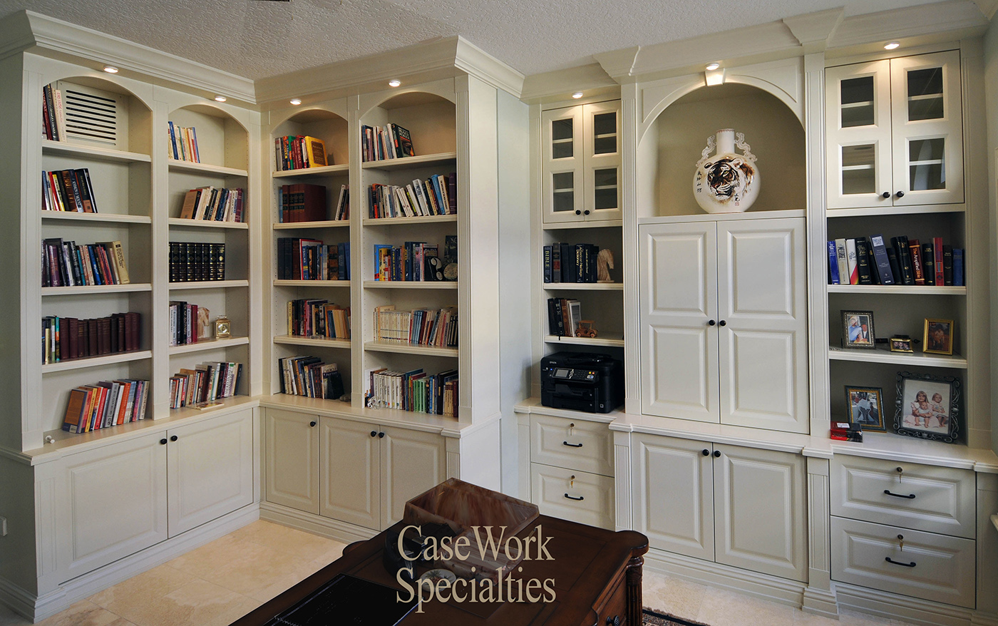 Genial Beautiful CUSTOM BOOKCASES   CUSTOM BUILT LIBRARY   WOOD WALL UNITS    SHELVING   White Office