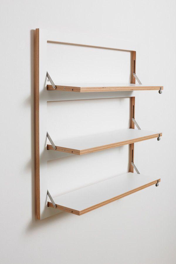 Beautiful Customizable Wall Mounted Shelving From AMBIVALENZ wall storage shelves