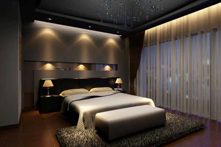 Beautiful ... Elegant dark master bedroom design with dark hard wood floor, dark master bedroom interior design ideas