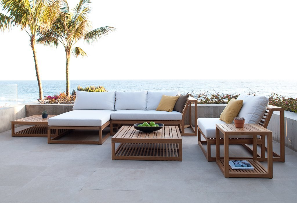 Beautiful Image of: Great Modern Teak Outdoor Furniture modern teak outdoor furniture