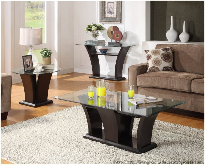 Beautiful ... Living Room, Exciting Living Room Table Sets Modern Many Glass Table living room glass table sets