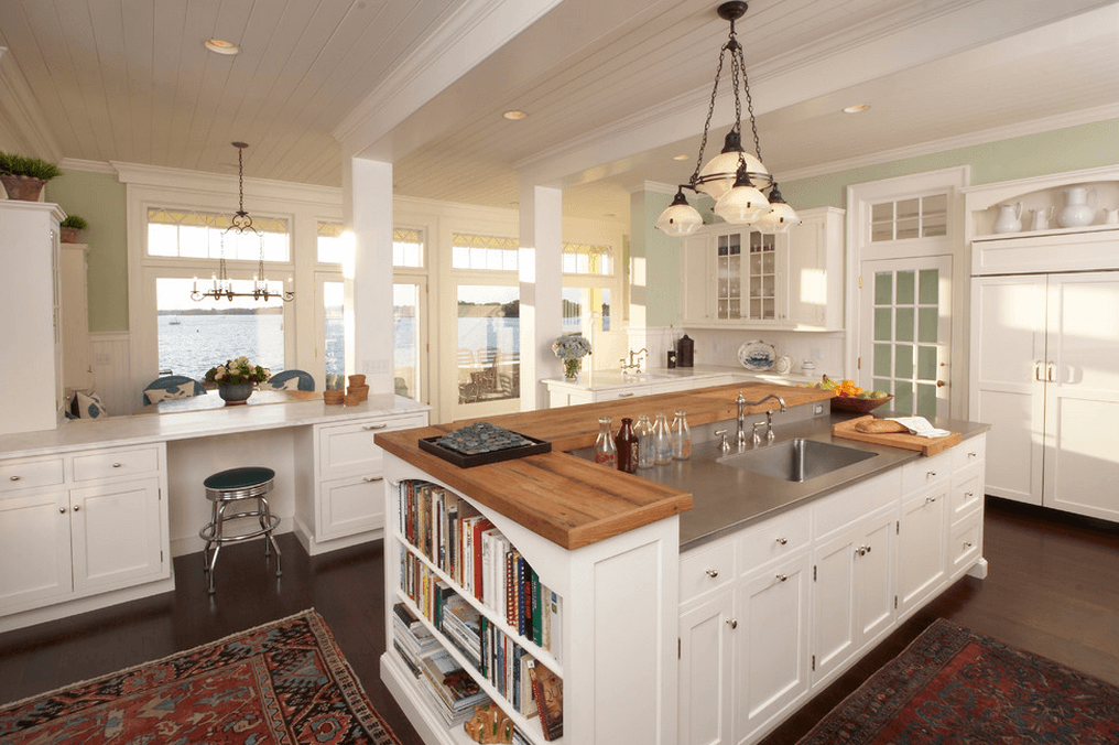 Beautiful Make it multi-level kitchen designs with island