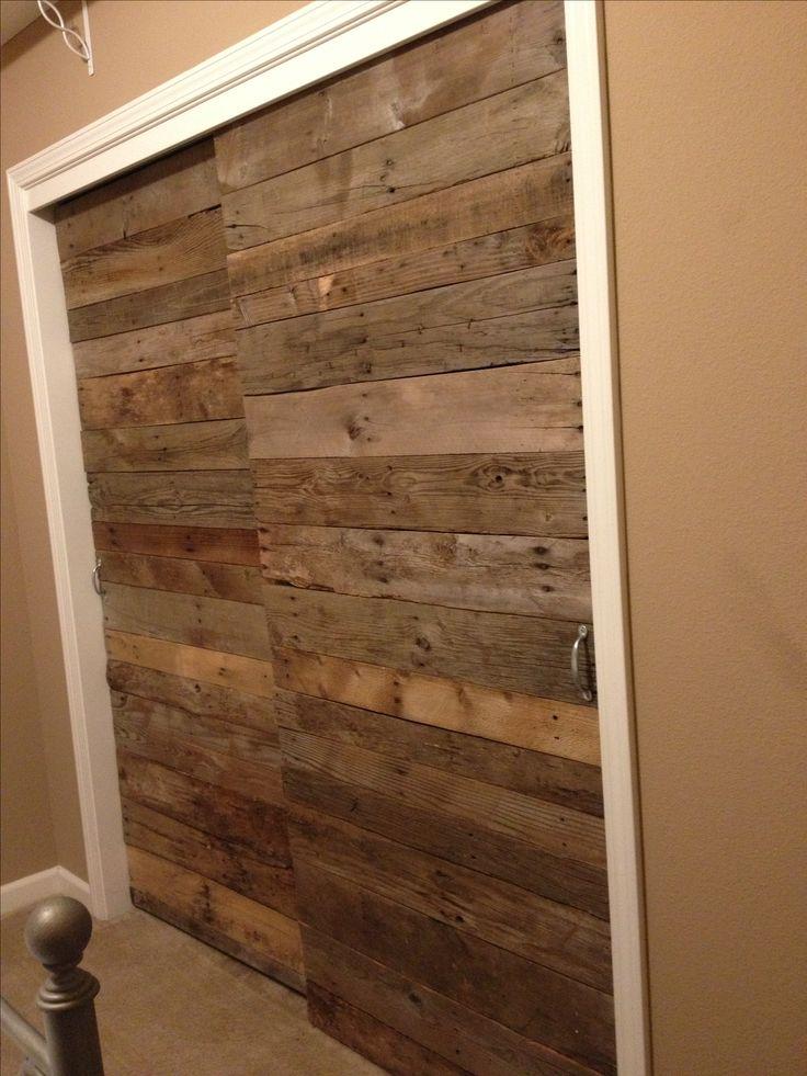 Beautiful Pallet wood sliding closet doors More wood sliding closet doors