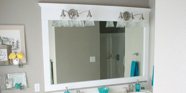 Beautiful Remodelaholic | Framing A Large Bathroom Mirror large framed bathroom mirrors