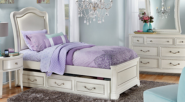 Beautiful Sofia Vergara Kayla White 5 Pc Full Panel Bedroom teen bedroom furniture sets