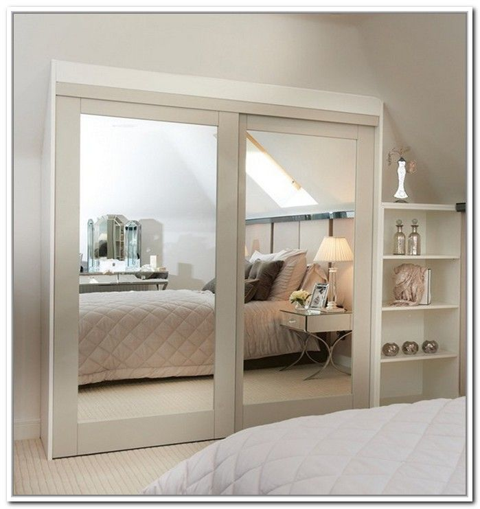 Beautiful Stylishly Space-Saving Sliding Mirror Closet Doors | Home Decor News mirrored wardrobe doors