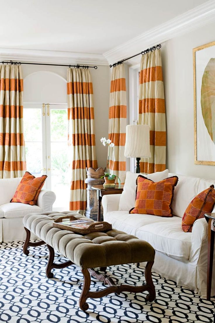 Beautiful This photo about: Horizontal Striped Curtains for Modern Room, entitled as horizontal striped curtains