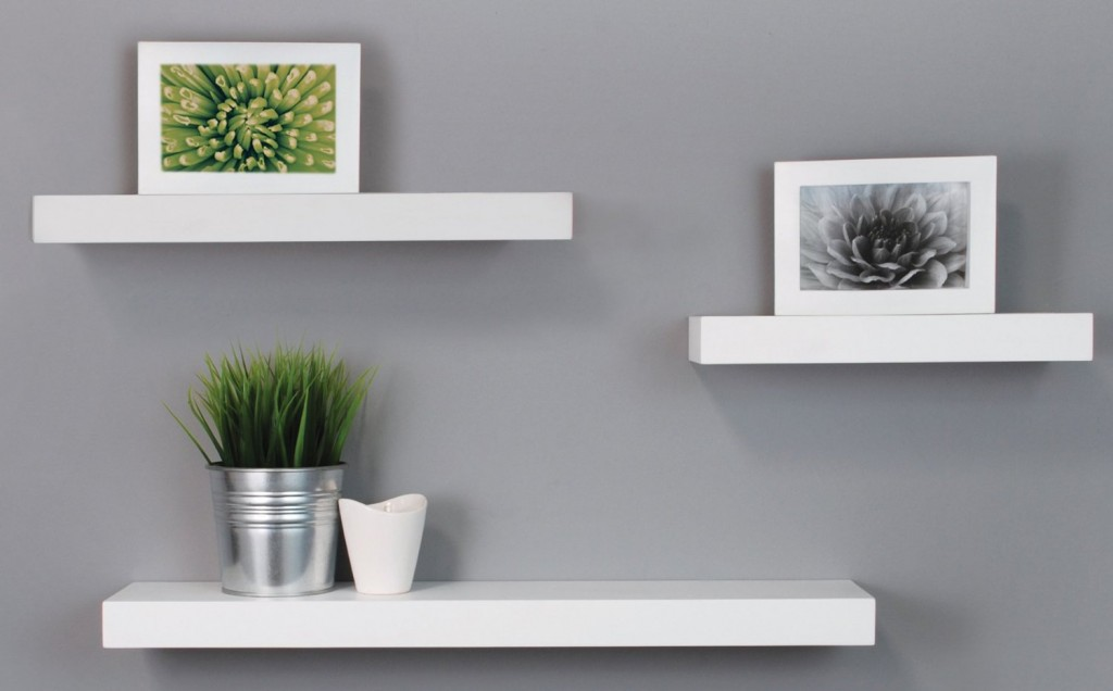 Beautiful white_floating_ledge white floating shelves