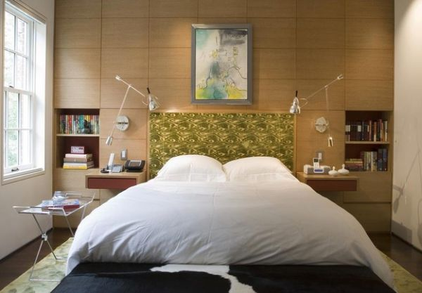 Modern View in gallery Simple sconce make reading in the bed a comfortable delight bedroom sconce lighting