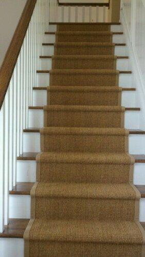 Modern berber carpet runner for stairs photo - 2 berber carpet stair runners