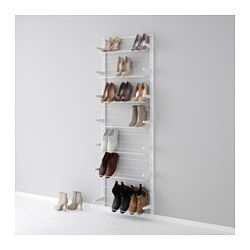 Best 25+ best ideas about Wall Mounted Shoe Rack on Pinterest | Shoe wall mounted shoe racks for closets