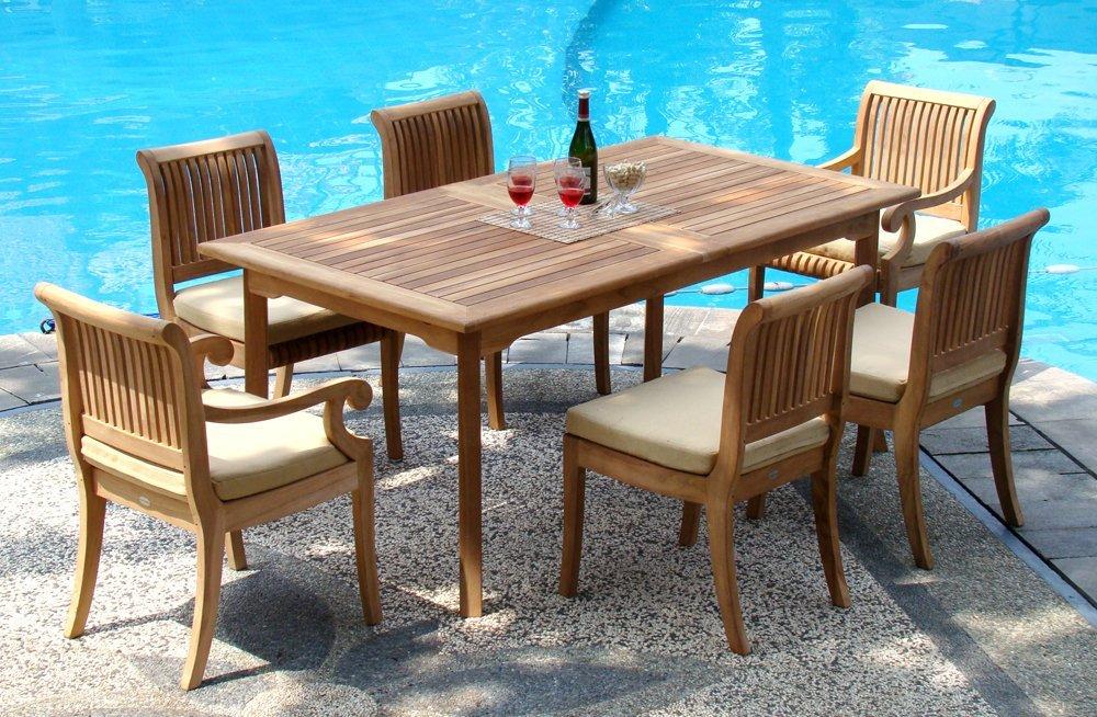 Best 7-piece-teak-dining-set-giva-chairs - 7 Piece teak garden furniture sets