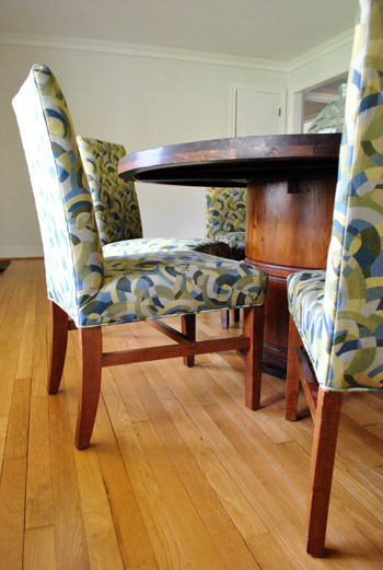 Best Adventures In Painting An Upholstered Chair (Yes Painting It!) patterned parsons chairs