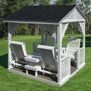 Best Amish Pine Double Lawn Swing Glider With Canopy | Beautiful, The Shade  And Patio