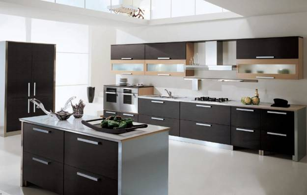 Best Contemporary kitchen design in black and white colors with stainless steel  and black and white modern kitchen ideas