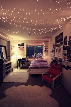 Best cool room ideas for teens girls with lights and pictures - Google Search teenage bedroom lighting ideas
