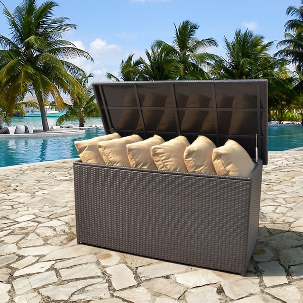 Best Corvus Lattice Outdoor Cushion Storage Box patio cushion storage