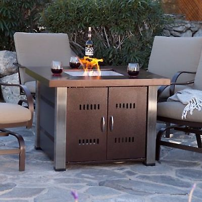Best Fire Pit Table Top Square Bronze Patio Heater Propane Fireplace Outdoor  Backyard propane patio fireplace