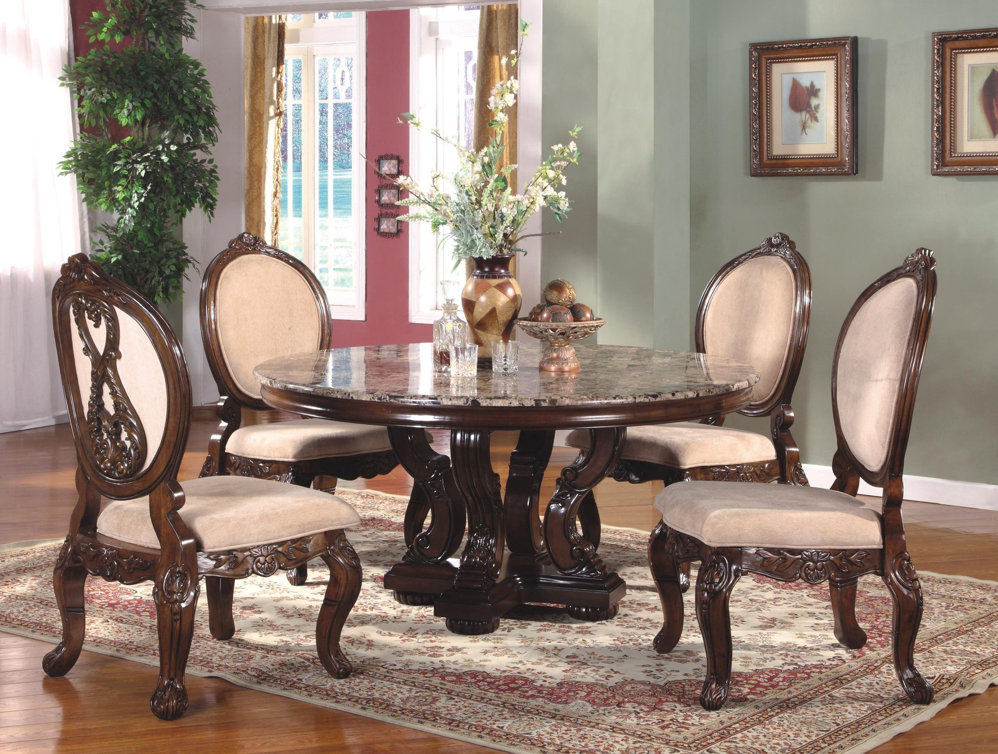 Enjoy A Lavish Dinner With Round Dining Room Sets
