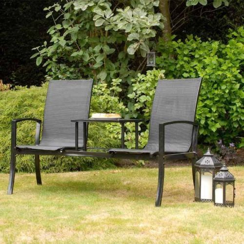 Best Havana Duo Companion Garden Love Seat By Suntime Black Or Bronze Free garden love seat