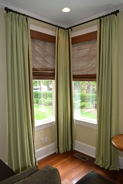 With corner curtain rod you won't miss decorating the corners too