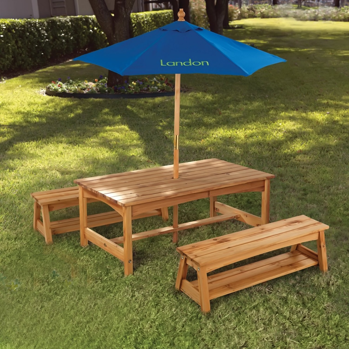 Best Image of: Cute Kids Wood Picnic Table kids wooden garden furniture