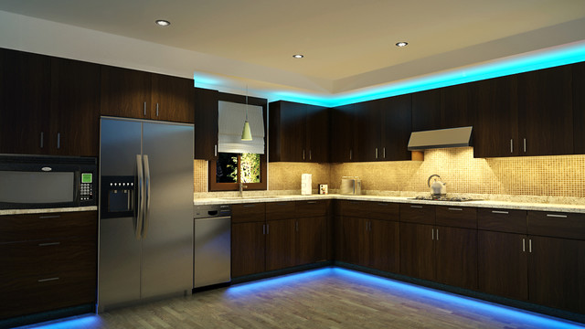 Best LED Kitchen Cabinet and Toe Kick Lighting contemporary-kitchen led kitchen cabinet lighting
