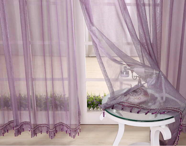 Best ... Lilac Bedroom or Balcony Cheap Sheer Curtains ... lilac sheer curtains