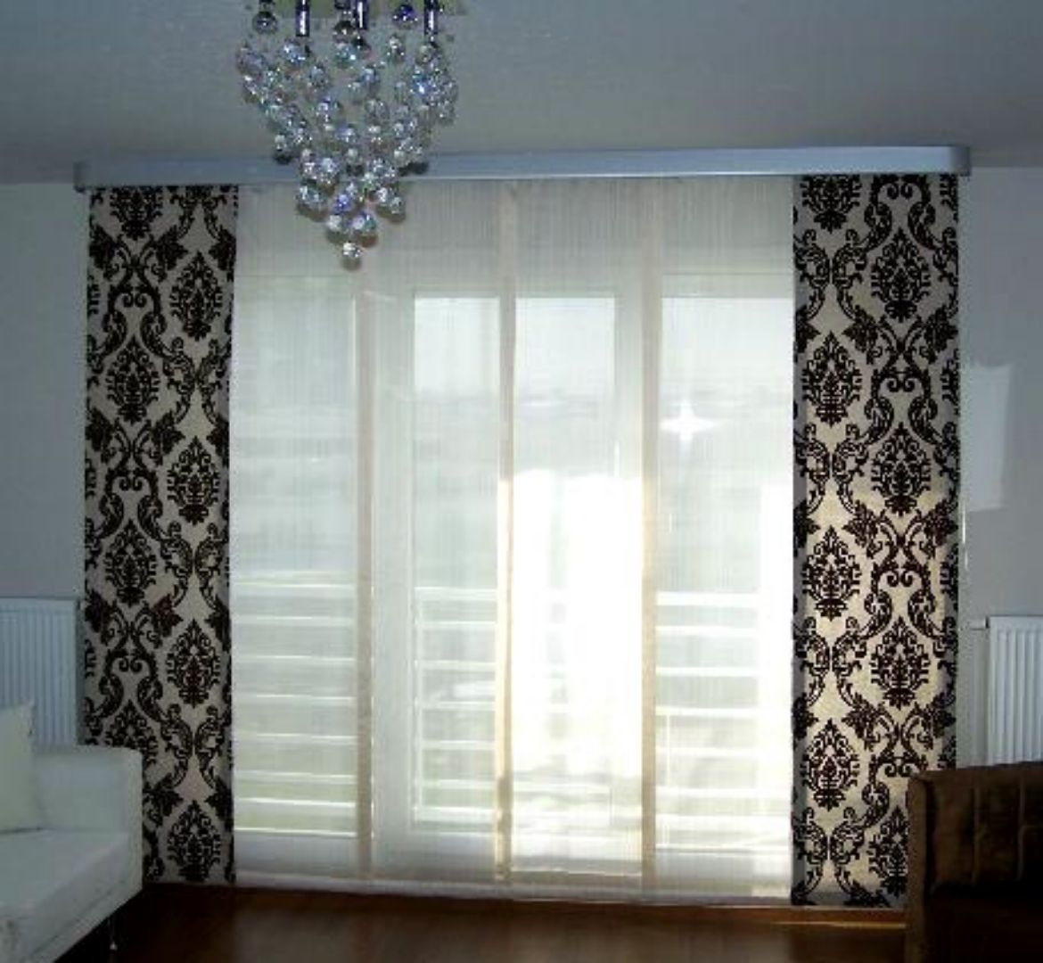 Charmant Best Modern Patteren Curtain With Sheer In Between Modern Curtain  Decoration Ideas Modern Curtain Design Ideas