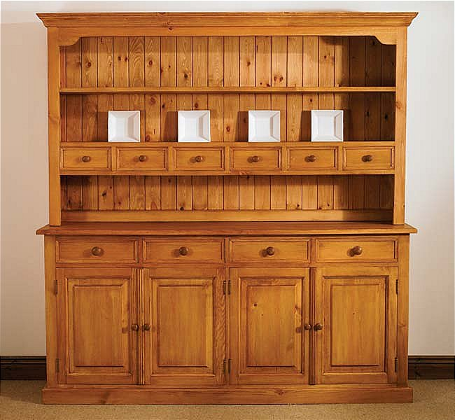 Best Mottisfont Waxed Large Welsh Dresser | Oak Furniture Solutions large welsh dresser