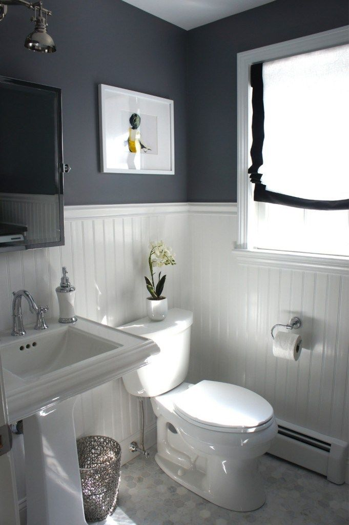 Best navy bathroom with beadboard - Google Search white beadboard bathroom